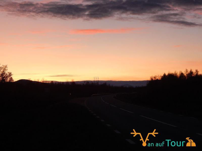 Sonnenuntergang Straße