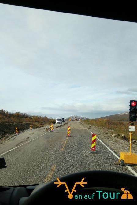 Straße Baustelle Norwegen