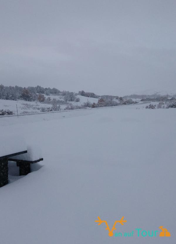 Schnee in Mitttelskandinavien